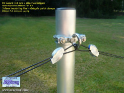 200m fil isolant 3 mm haubanage antennes