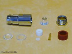 Connecteur N femelle Presse-étoupe coax 10-11mm