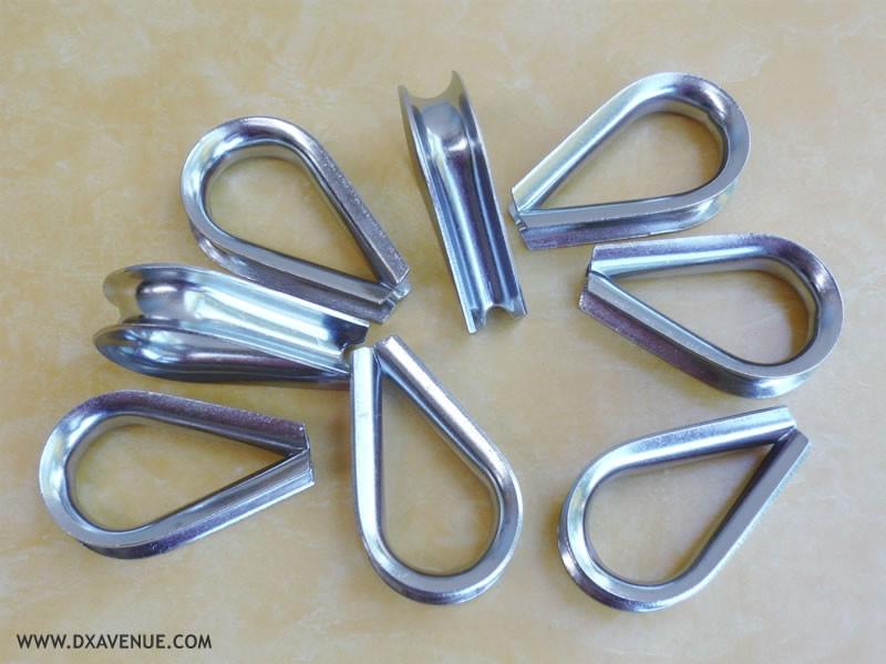 Cosse cœur pour câble de haubanage 7,5 mm