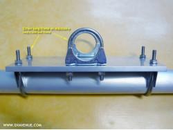 Etrier long fileté pour tube Ø 60 mm