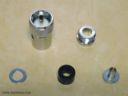 PL-259 Clamp connector for 7mm coaxial