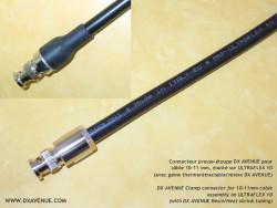 Connecteur BNC mâle Presse-étoupe 10-11mm