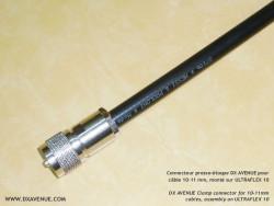 Connecteur PL-259 mâle Presse-étoupe 10-11mm