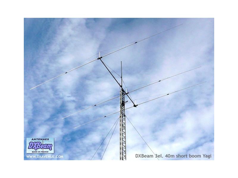 3 el. 40m short boom Yagi DXBeam