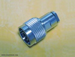 N-Male connector for 5mm coaxial
