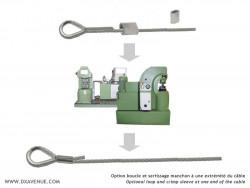 Manchonnage sur câble inox
