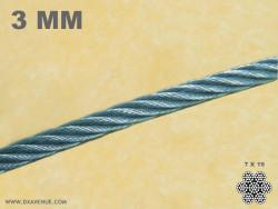 Câble inox ultra souple 3 mm