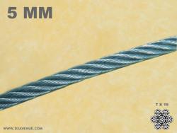 Câble inox ultra souple 5 mm