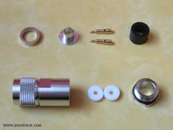 Connecteur N mâle PRO Presse-étoupe 10-11mm