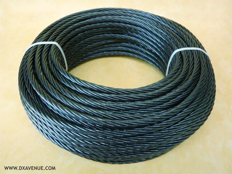 50m câble 7,5 mm isolant pour haubanage pylône