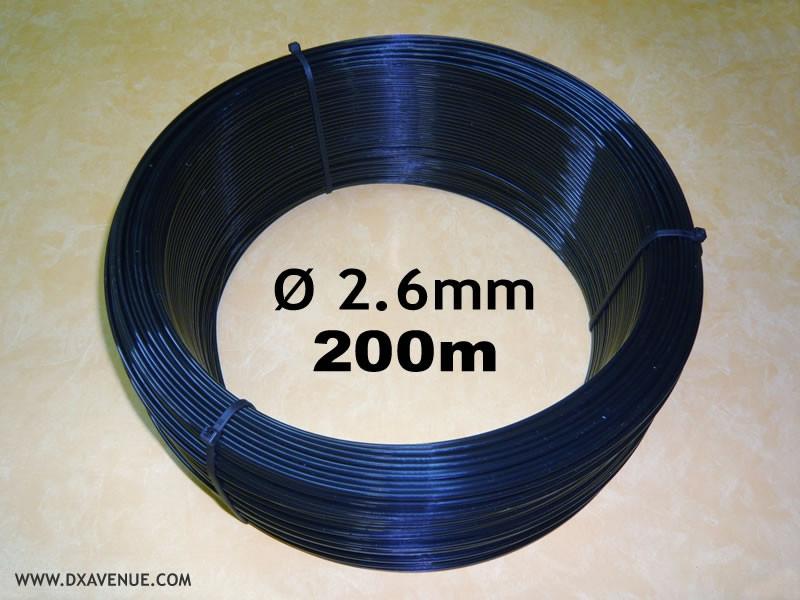 200m fil isolant 2,6 mm haubanage antennes