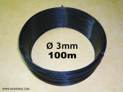 100m 3mm insulating wire for guying of antennas