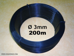 200m 3mm insulating wire for guying of antennas