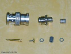 BNC-Male Radiall R141.003 Straight plug clamp