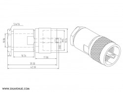 PL-259 Clamp connector (UHF-Male)