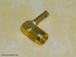 SMA Radiall R125172 Right-angle plug 2.6mm