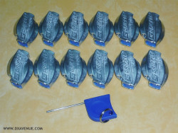 Guying Pack: 12 Quick clamps + 1 Adjustment Key