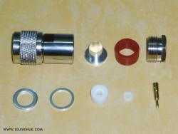 Connecteur N mâle pour coax 10-11 mm