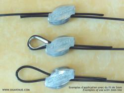 Attache rapide pour fil de haubanage d'antenne (2,6 et 3 mm)
