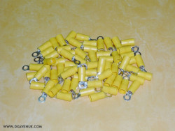 Lot of 64 terminals 6 mm² for radials