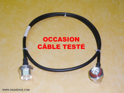"Bretelle coax 1/4"" - 7/16 - 1,20 m (OCCASION)"