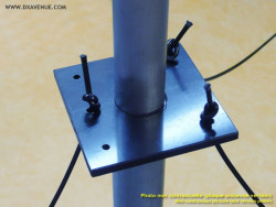 Guying plate for vertical antennas