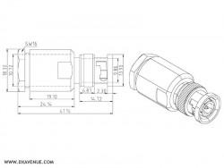 Connecteur BNC mâle pour coax 10-11 mm