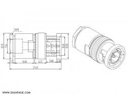Connecteur BNC mâle pour coax 5-6 mm